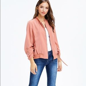 Jackets & Blazers - Blush Pink Drawstring Jacket